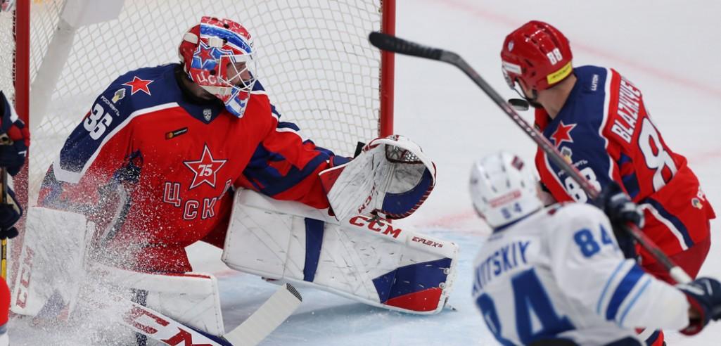 Три гола за 108 секунд перевернули ход матча между ЦСКА и Барысом