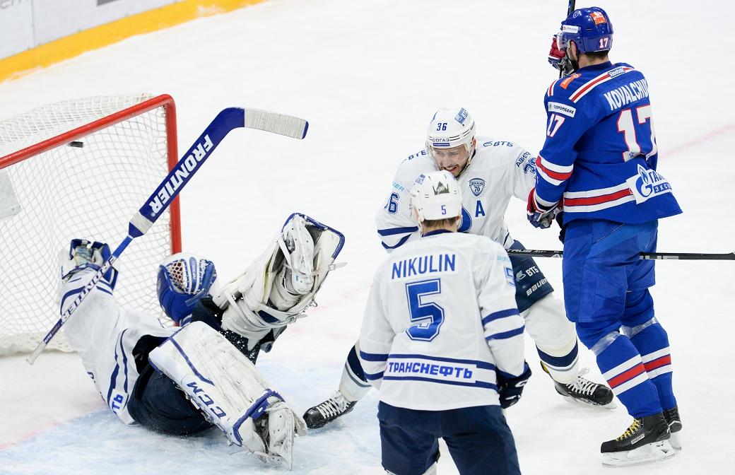 СКА обыграл столичное «Динамо» иповел всерии четвертьфинала плей-офф КХЛ