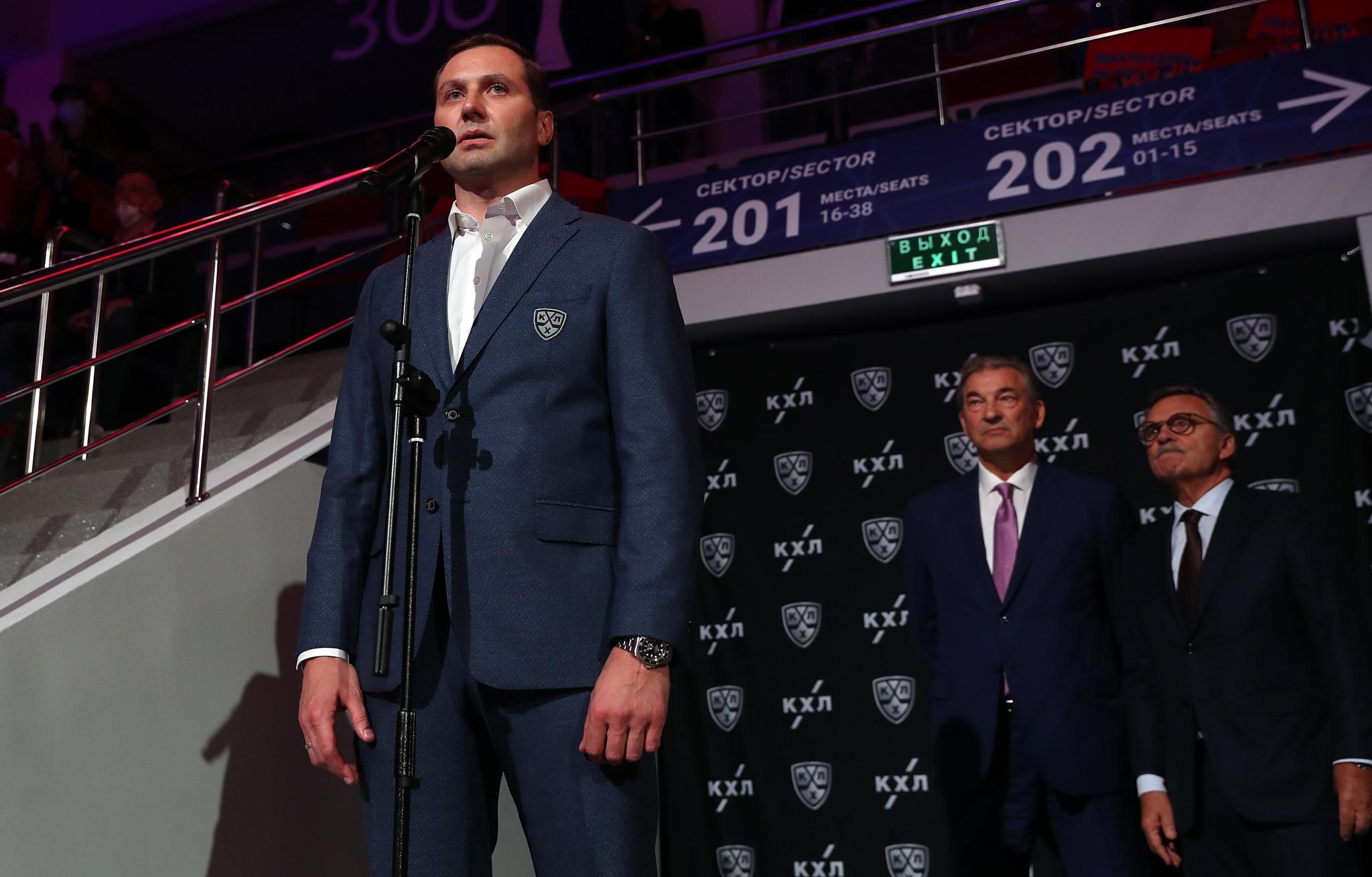 Алексей Морозов на церемонии открытия сезона 2020/2021. Фото: Юрий Кузьмин