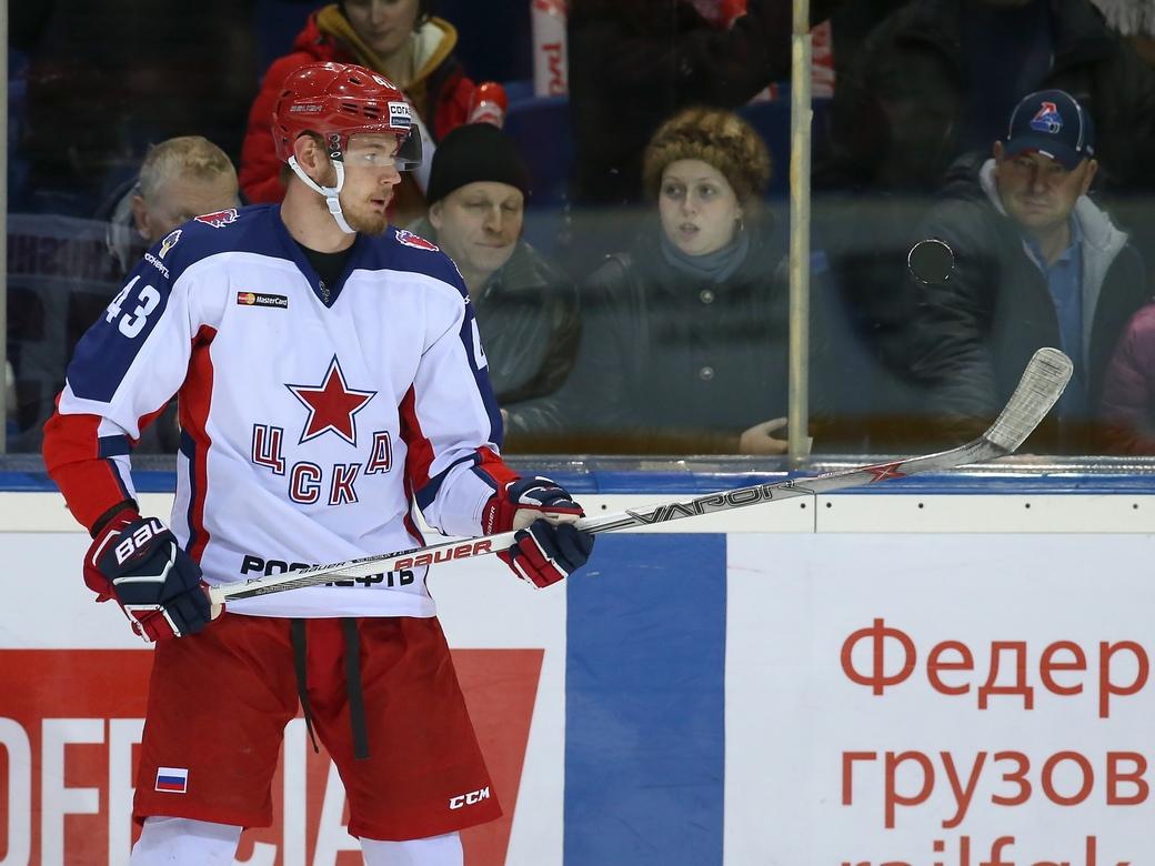 Нападающий ЦСКА Дмитрий Кугрышев: Речь не идет о погоне за СКА — важно просто набирать очки