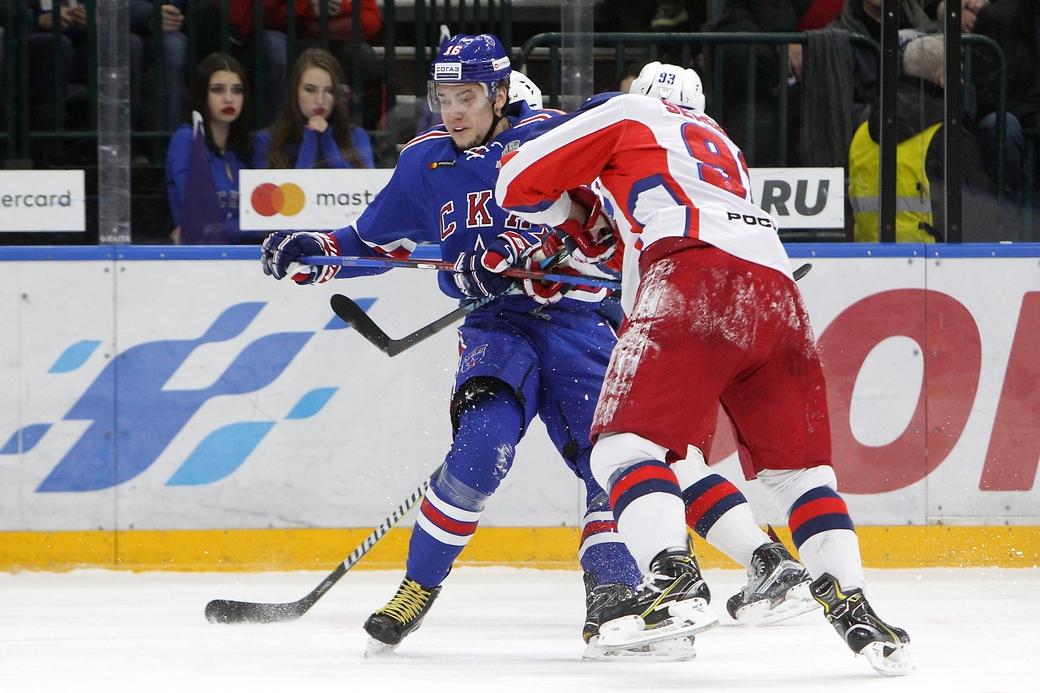 СКА уступил ЦСКА впервом матче заключительной серии Западной конференции