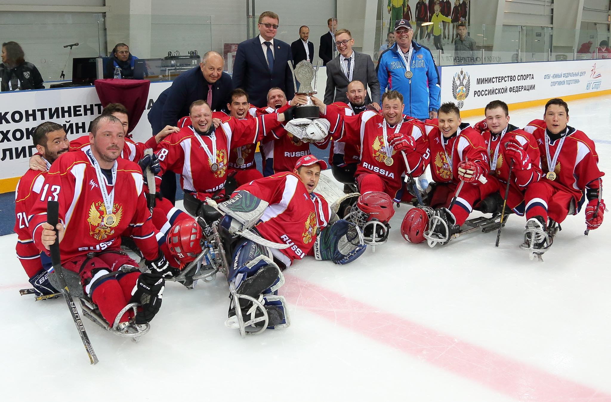 Победитель Кубка Континента по хоккею-следж - Россия-1