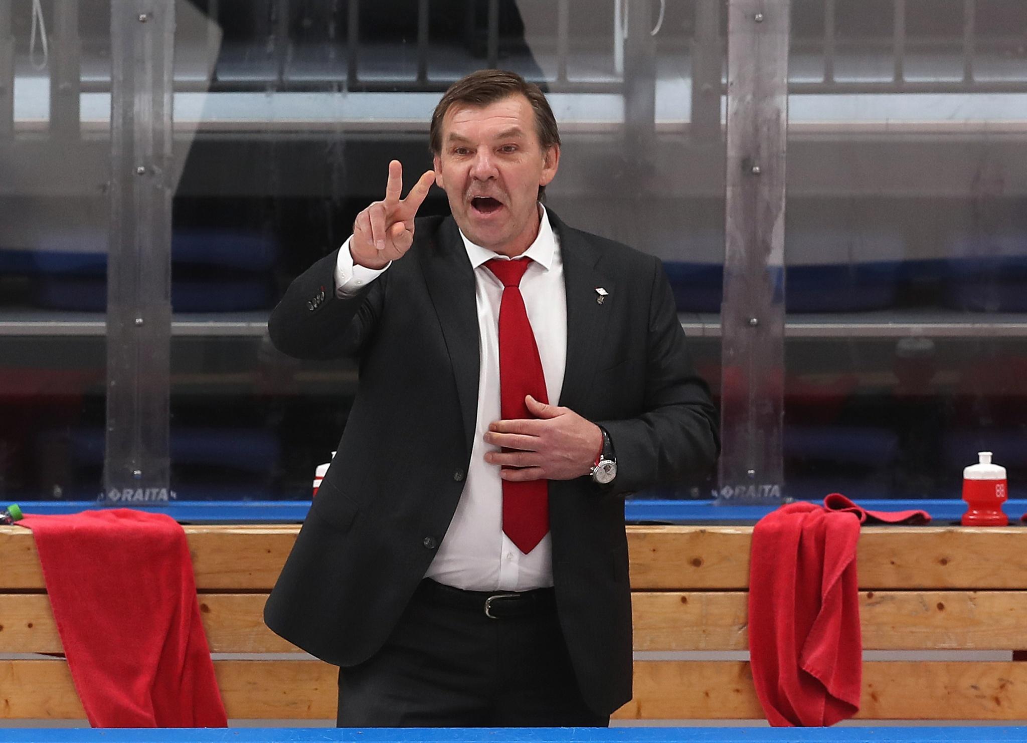 Главный тренер Спартака Олег Знарок. Фото: Юрий Кузьмин