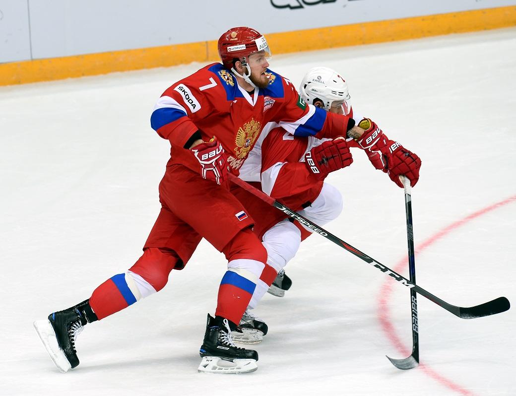 Хоккеисты сборной Российской Федерации победили «Спартак» вконтрольном матче