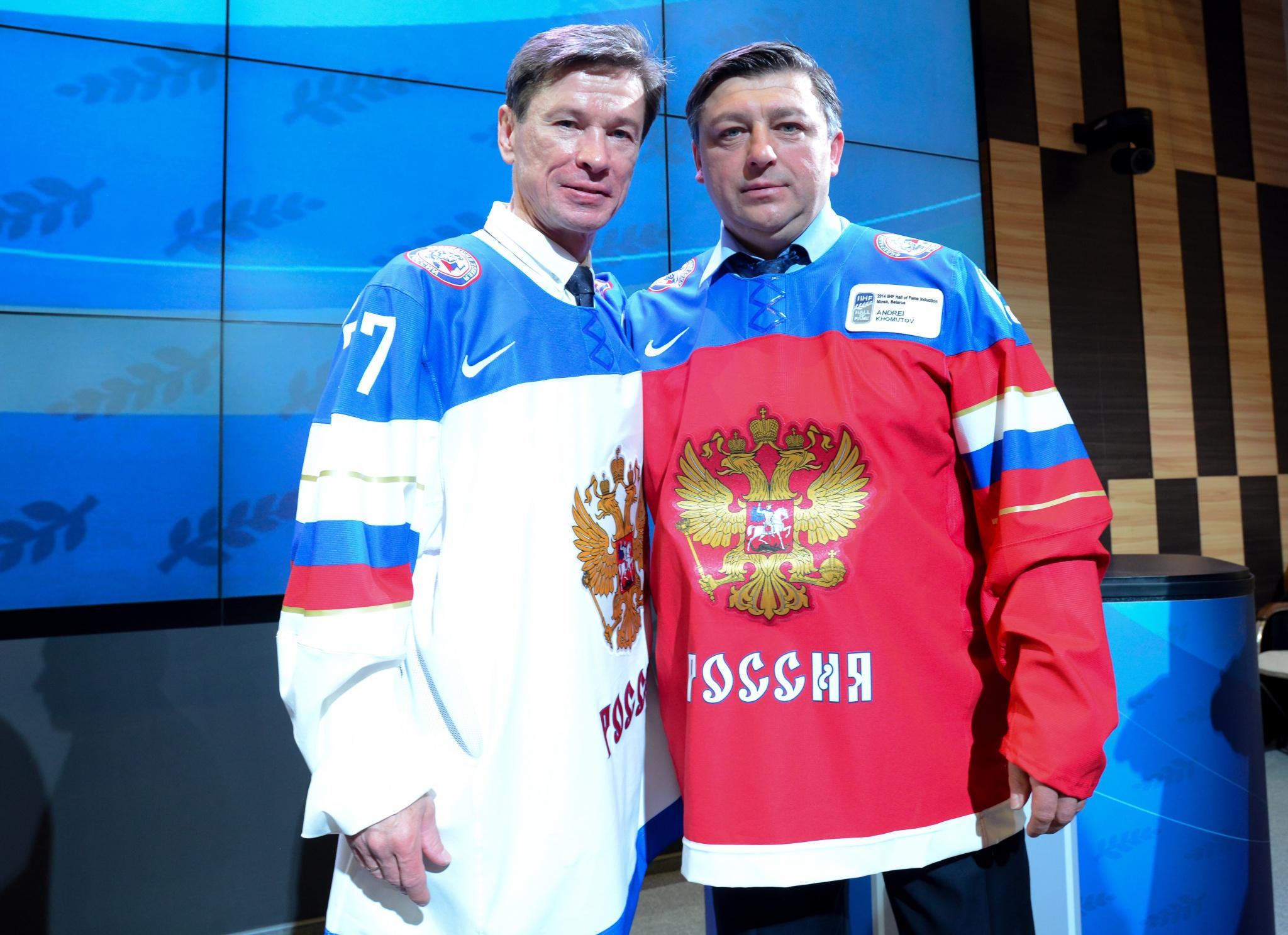 Вячеслав Быков и Андрей Хомутов. Фото: Сергей Федосеев