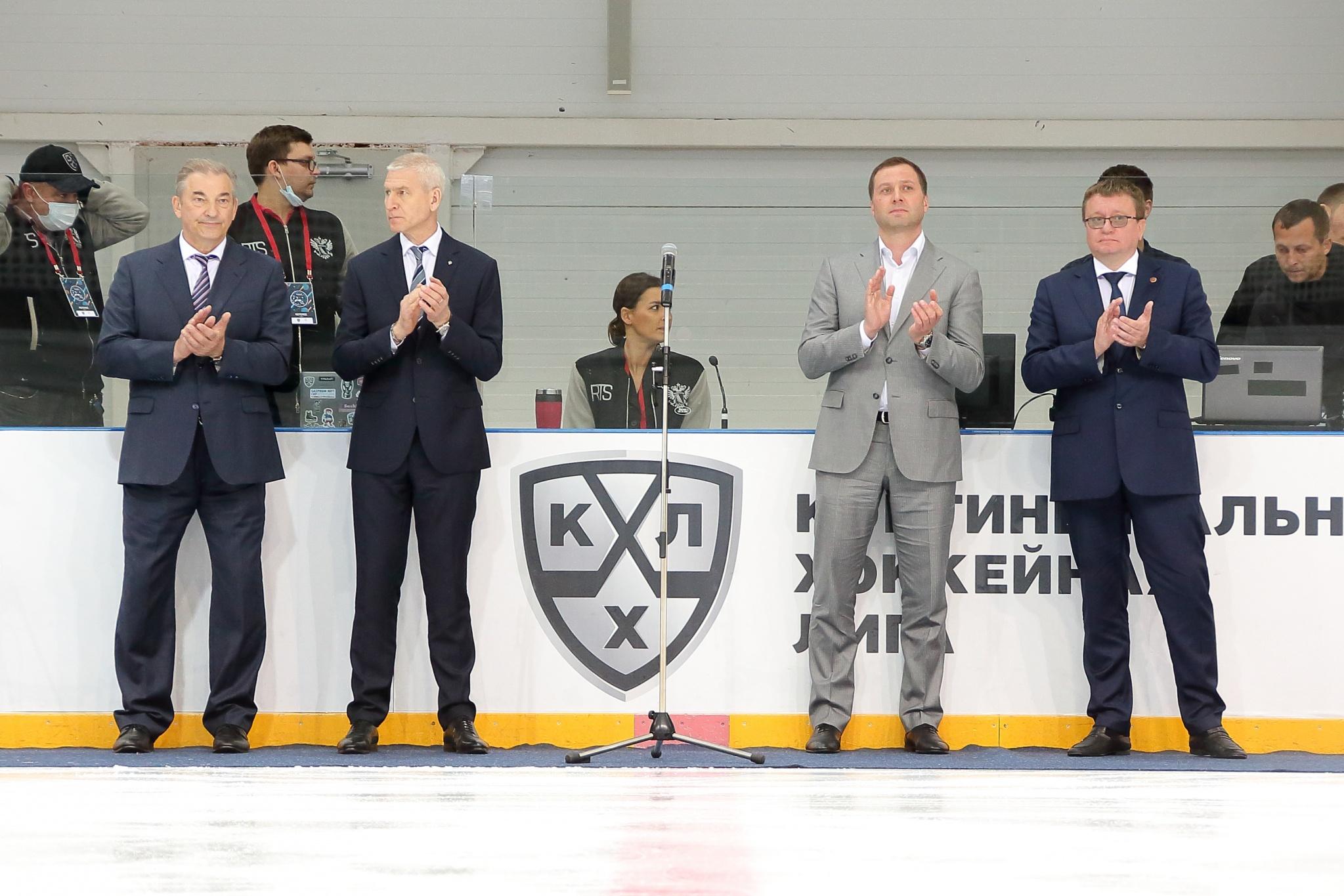 Владислав Третьяк, Олег Матыцин, Алексей Морозов и Андрей Строкин