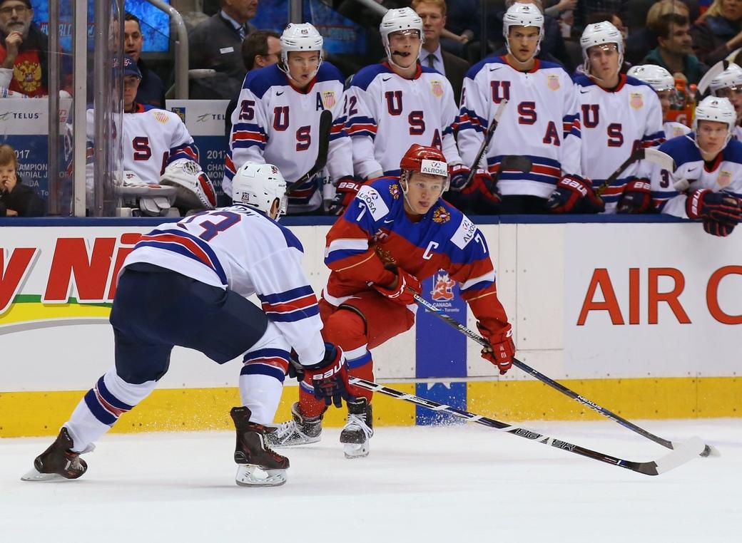 Молодежная сборная РФ похоккею проиграла команде США наЧМ